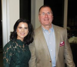 Melissa Cole, a reporter and meteorologist with WFSB/Channel 3, and Michael Menard, executive director of LARC