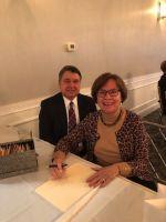 Attorney Tom Sutnik and club treasurer Lynn Sutnik of Southbury