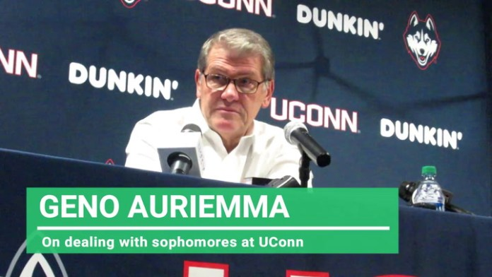 UConn coach Auriemma: On dealing with sophomores at UConn