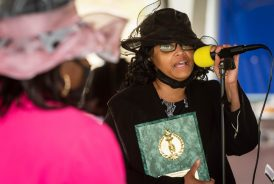Honoree Paulene Adams, Mother of The Youth, thanks the committee for the recognition that she and three others received during a Mother's Day celebration held Saturday at Lakewood Park in Waterbury. The event was hosted by the Black Women United Committee. Jim Shannon Republican American