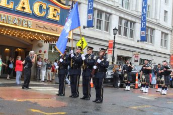 Recruits from the Waterbury Police Academy Class 2020-01 during basic training graduation ceremonies Tuesday at the Palace Theater in Waterbury. The academy graduated 18 officers. Andreas Ylima Republican American