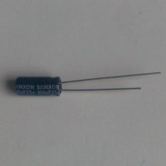 Condensateur chimique 100uf 25v