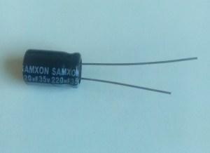 Condensateur électrolytique 220uf 35v