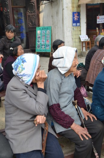 Spectateurs d'opéra chinois