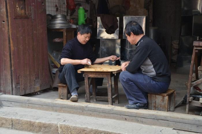 Joueurs d'échec chinois