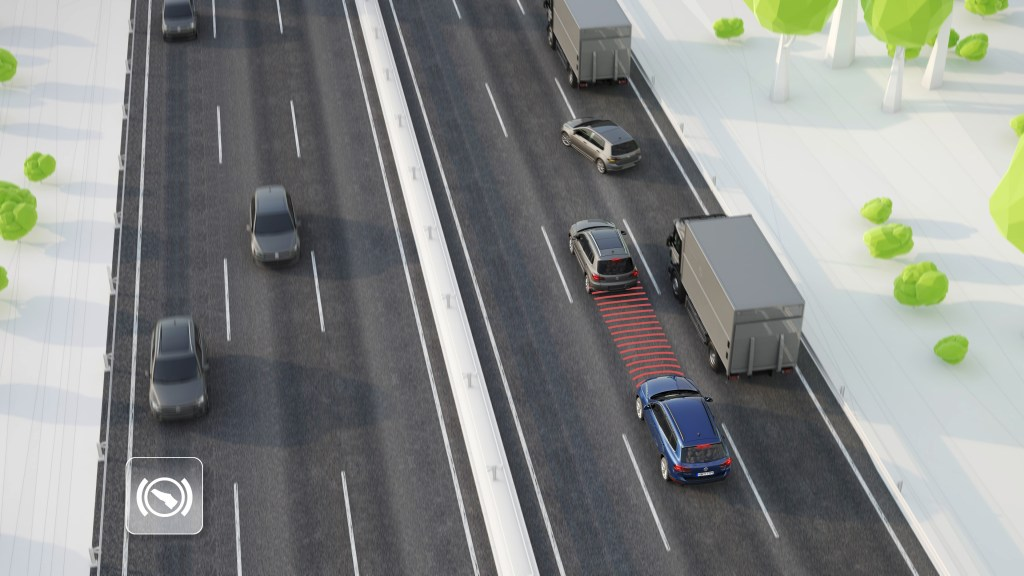 Volkswagen is offering adaptive cruise control on several 2016 model years. (Provided by Volkswagen)