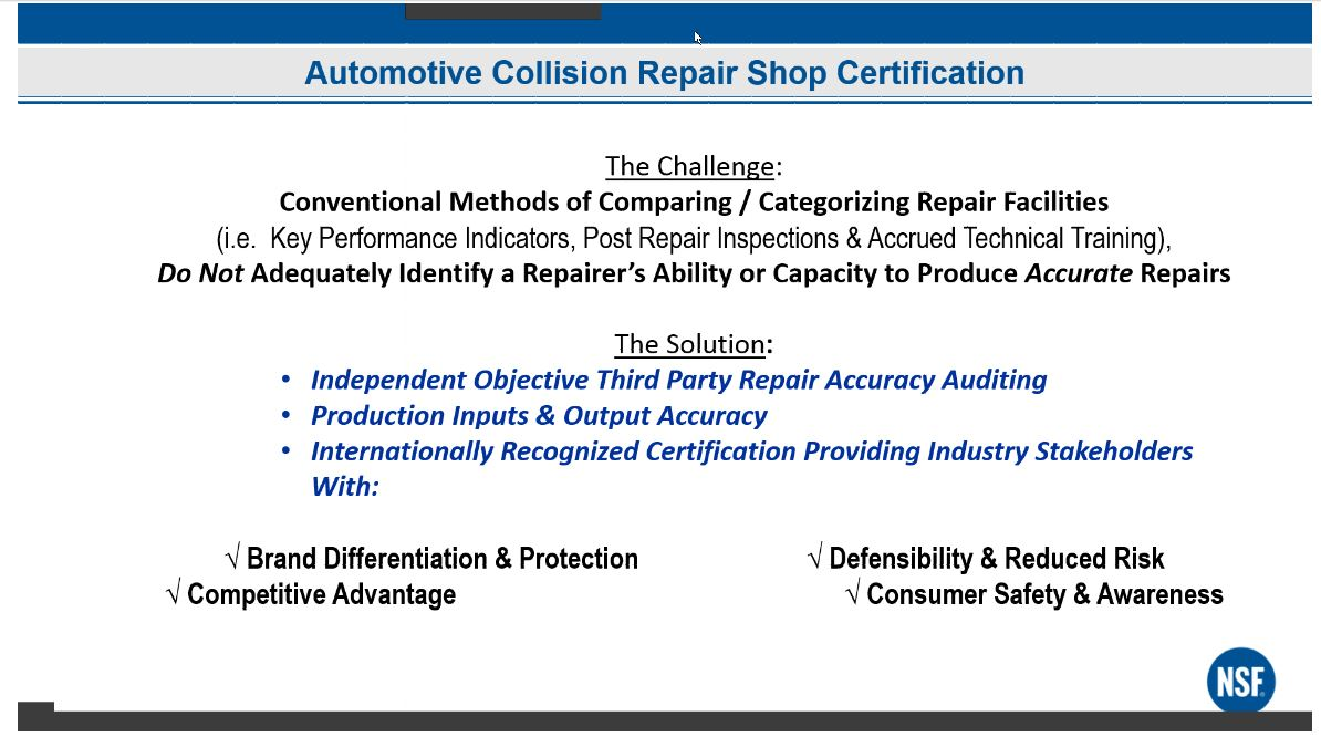 Nsf Elaborates On Audits Equipment Insurer Buy In For Auto Body
