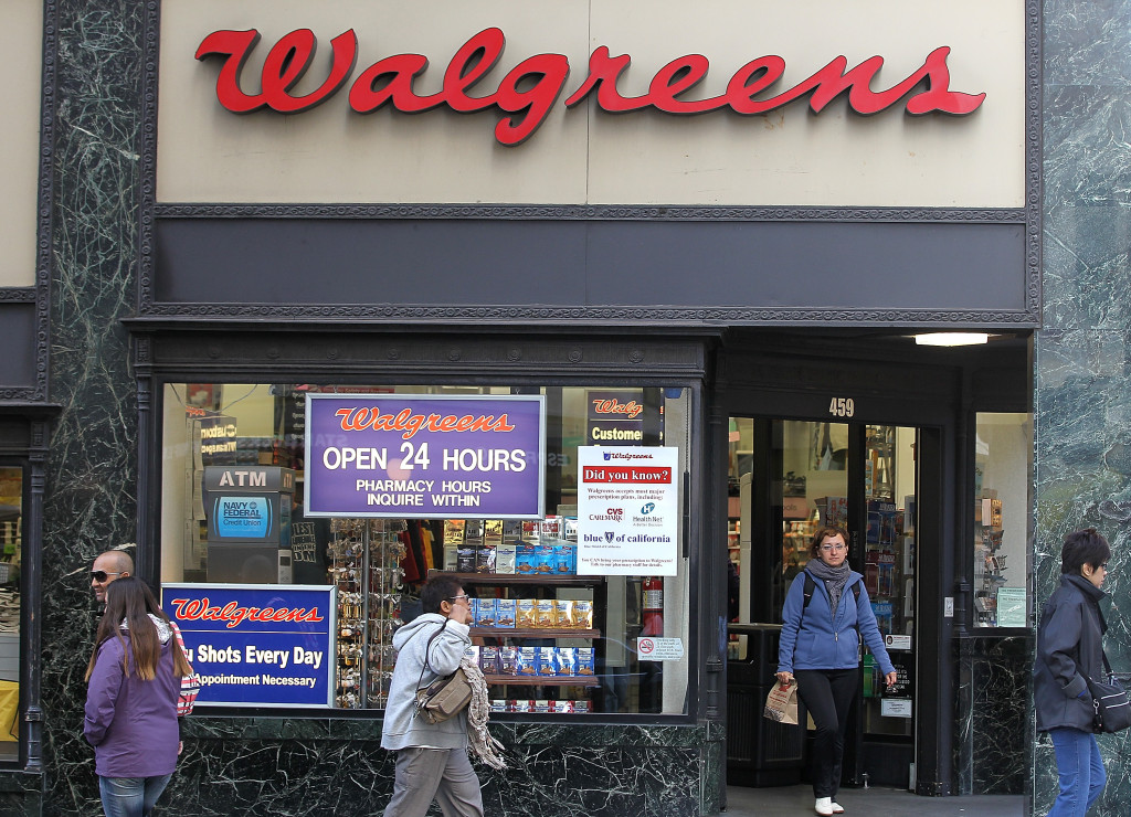 People walk by a Walgreens store on June 19, 2012, in San Francisco. (Justin Sullivan/Getty Images News/Thinkstock file)