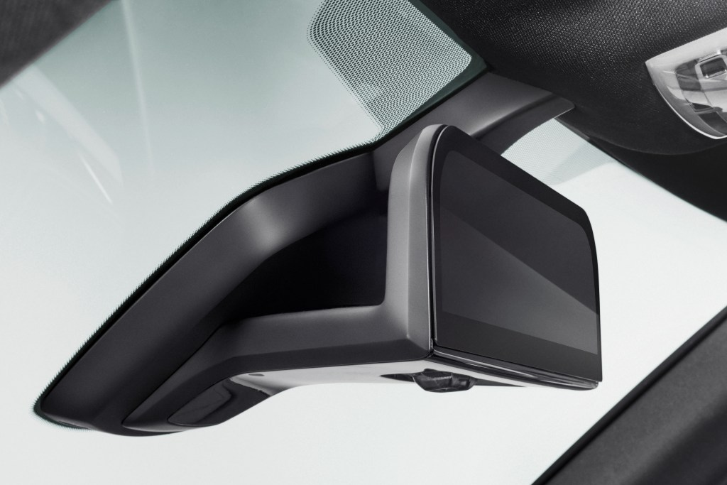 In another foray towards reducing side-view mirrors with cameras, BMW presented Tuesday an i8 Mirrorless concept it touted as safer and more aerodynamic for customers. (Provided by BMW)