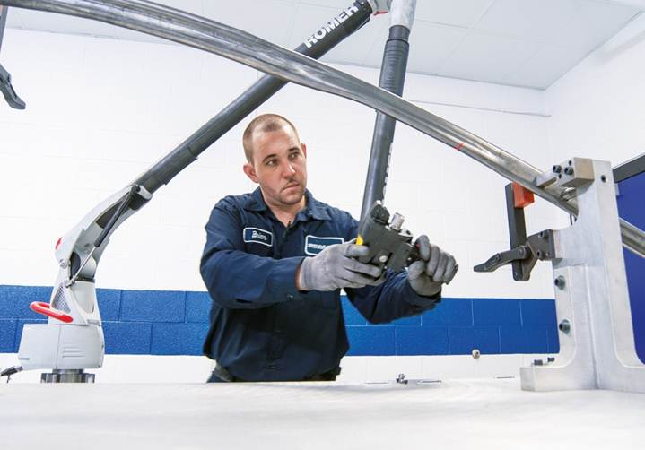 Schuler and Midway and Ford contributed to the hydroformed high-strength steel roof rails and A-pillars of the 2015 Ford Mustang. The car is lighter but 28 percent torsionally stiffer than the 2014 Mustang, according to Ford. (Provided by Ford)