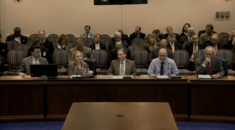 Supporters of Maryland House Bill 1258 appear at a hearing about the bill March 10. (Screenshot from Maryland House video)