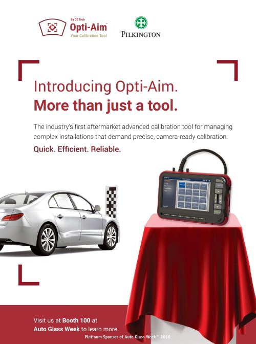 The September-October issue of AGRR displays an ad for the Pilkington OPTI-AIM. (Provided by AGRR)