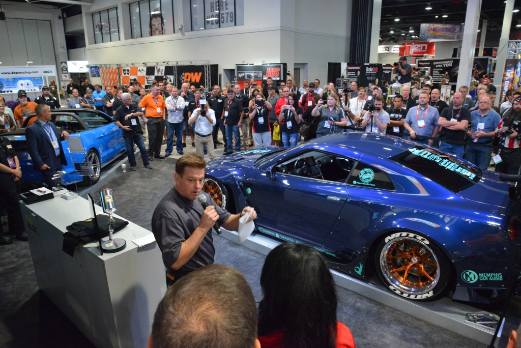 Chip Foose can be seen in the BASF/Glasurit booth at SEMA 2016. (Provided by SEMA)