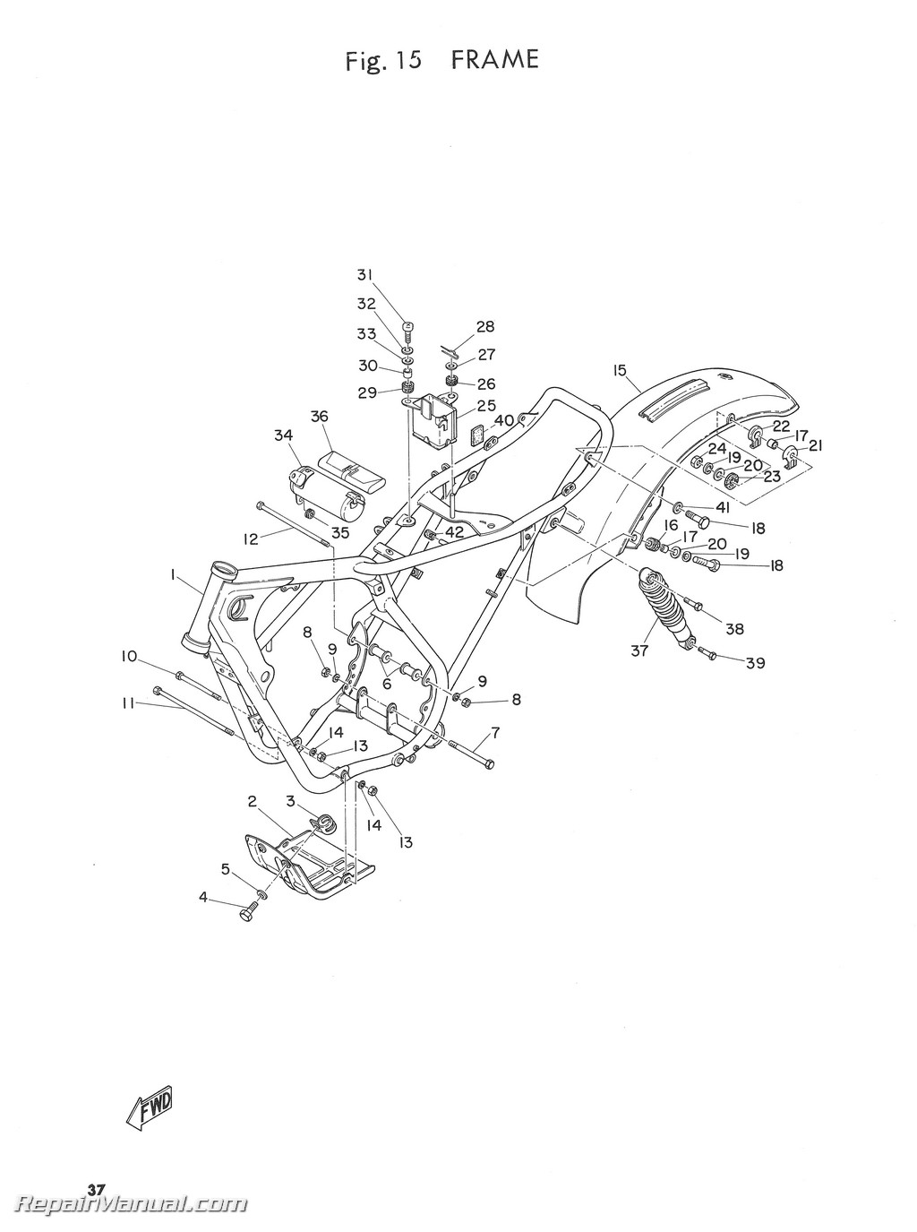 Yamaha Dt1b Parts List Parts Manual