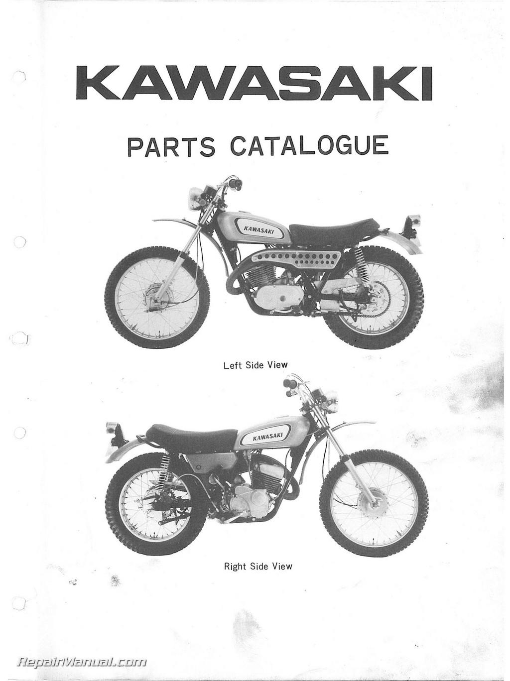 Kawasaki 350 F5 F5a Bighorn Motorcycle Parts Manual