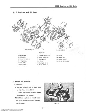 19701971 RT1 360cc DT2 RT2 Yamaha Motorcycle Service Manual
