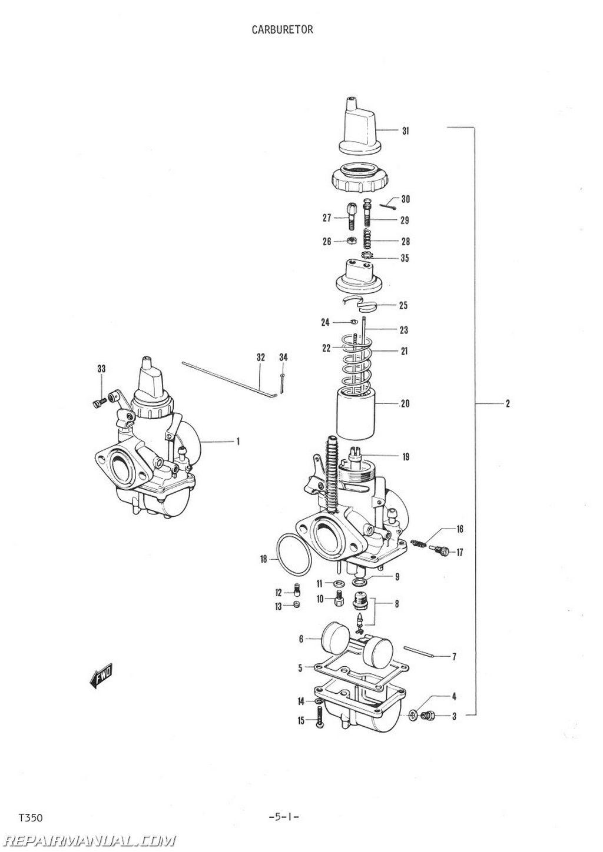 Suzuki T350 Parts Manual