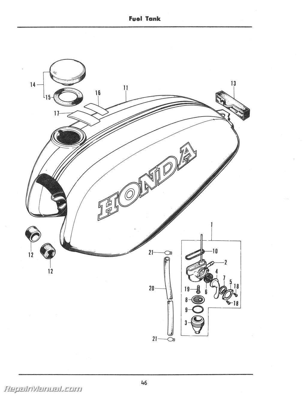 Honda Xl100k Motorcycle Parts Manual