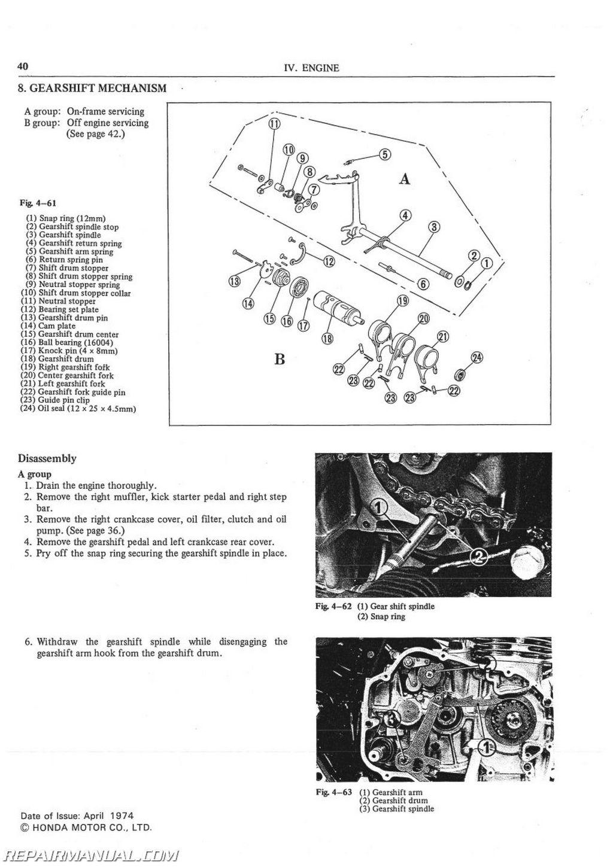 Honda Cb500t Motorcycle Service Manual