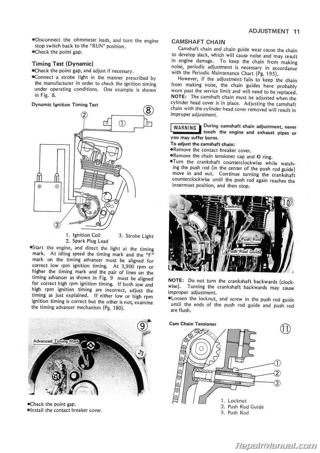 Kawasaki Kz750 B Twin Motorcycle Service Manual