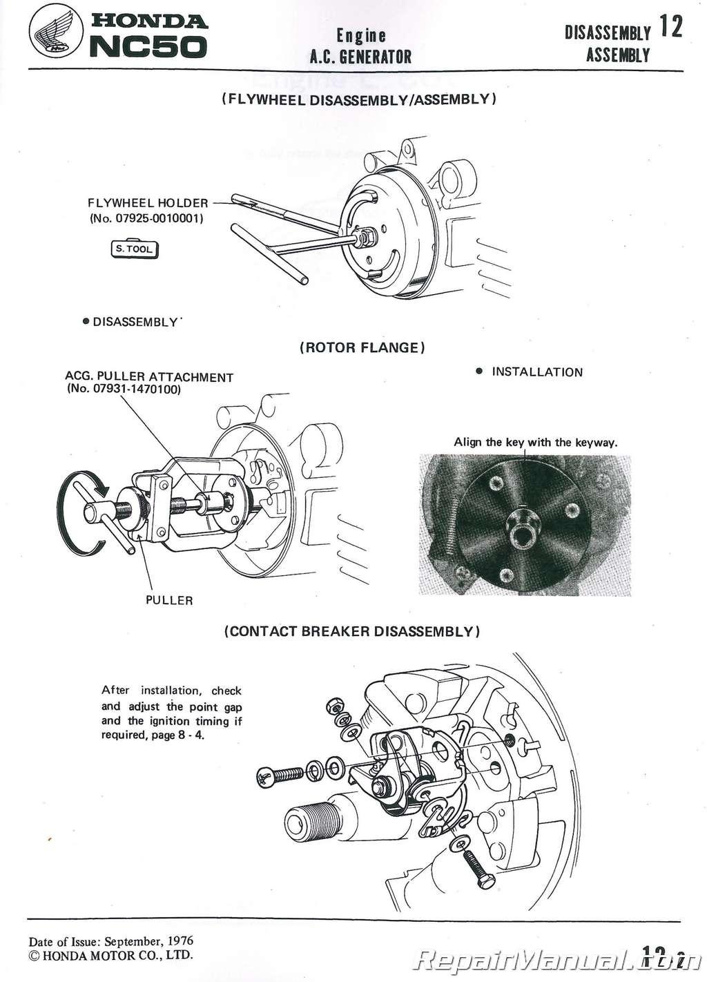 Honda Na Nc50 Express Scooter Shop Manual