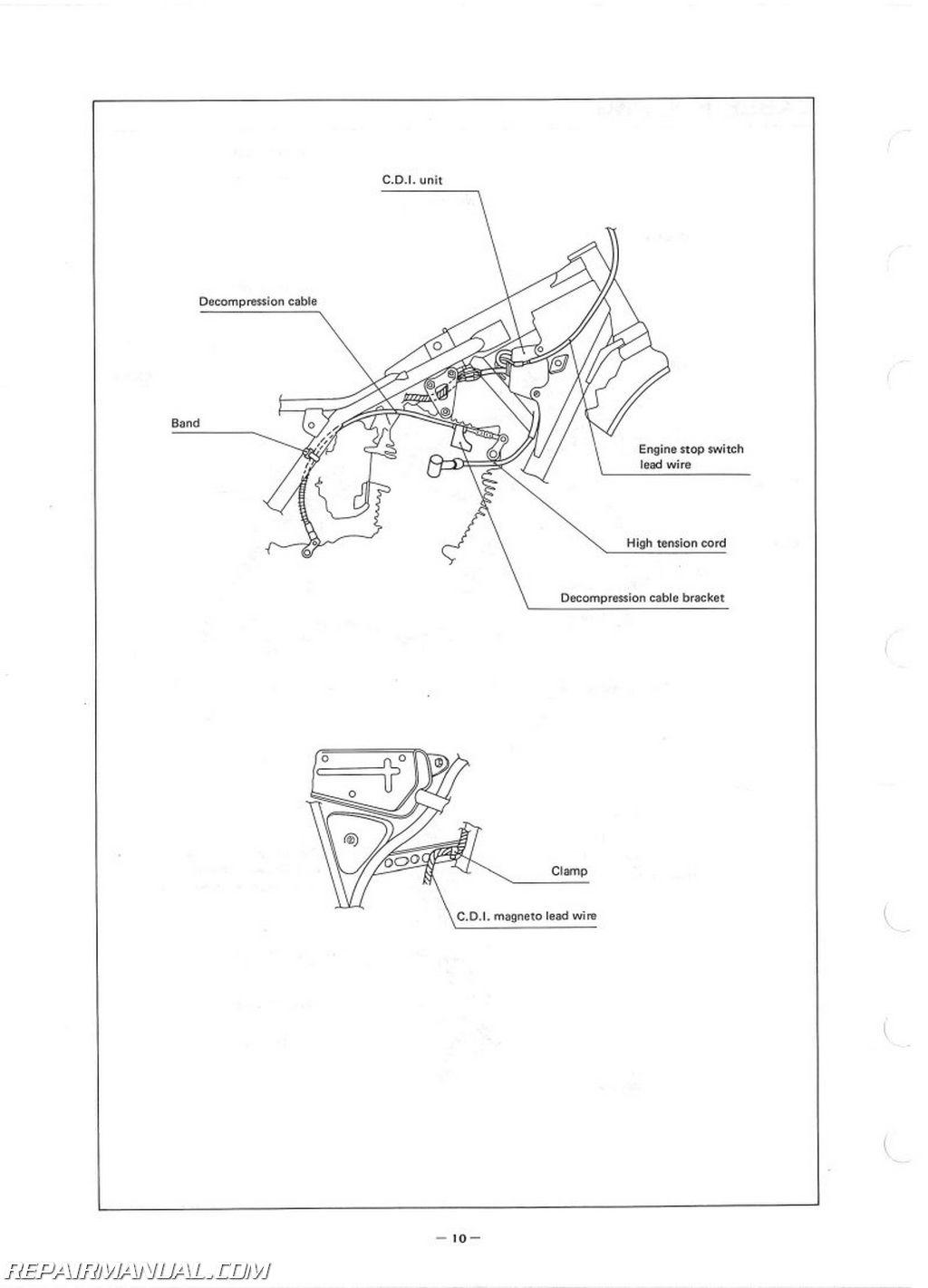 Yamaha Tt250g Assembly Manual