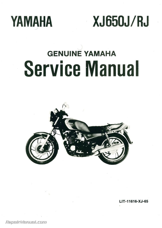 Yamaha Xj650r Seca Motorcycle Service Manual