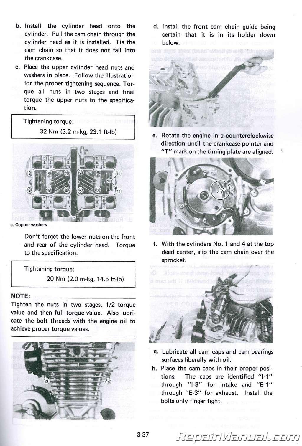 Yamaha Xj750 Maxim Motorcycle Service Manual
