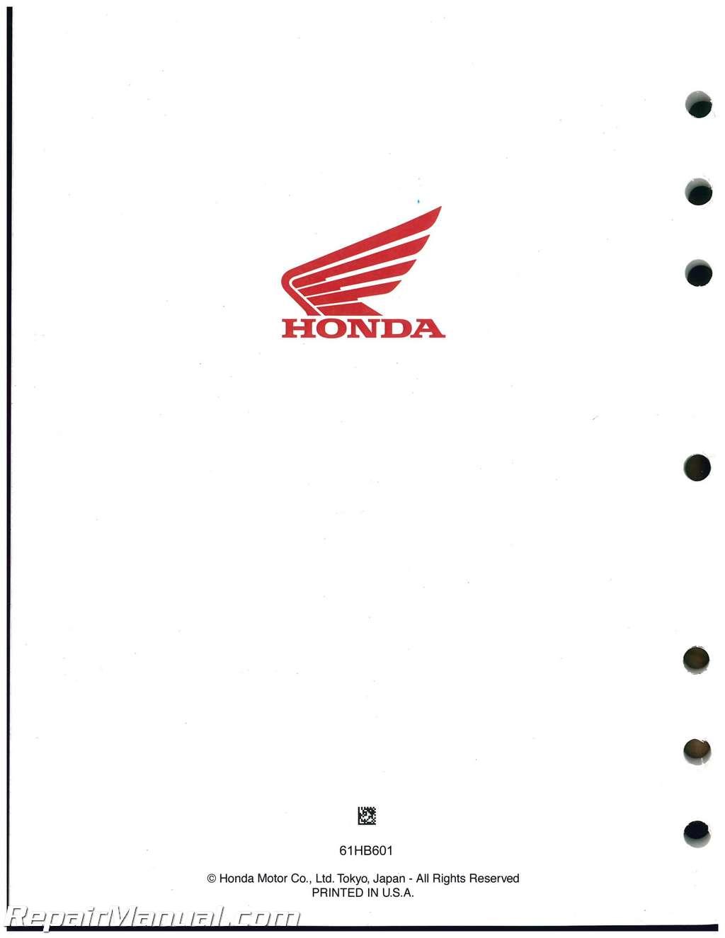 Honda Atc125m Three Wheeler Service Manual