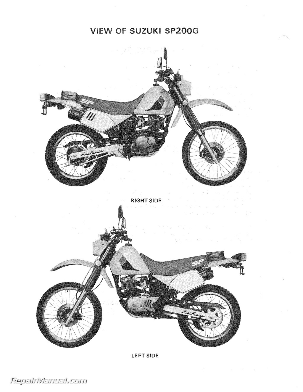 Suzuki Sp200g Dr200 Motorcycle Service Manual