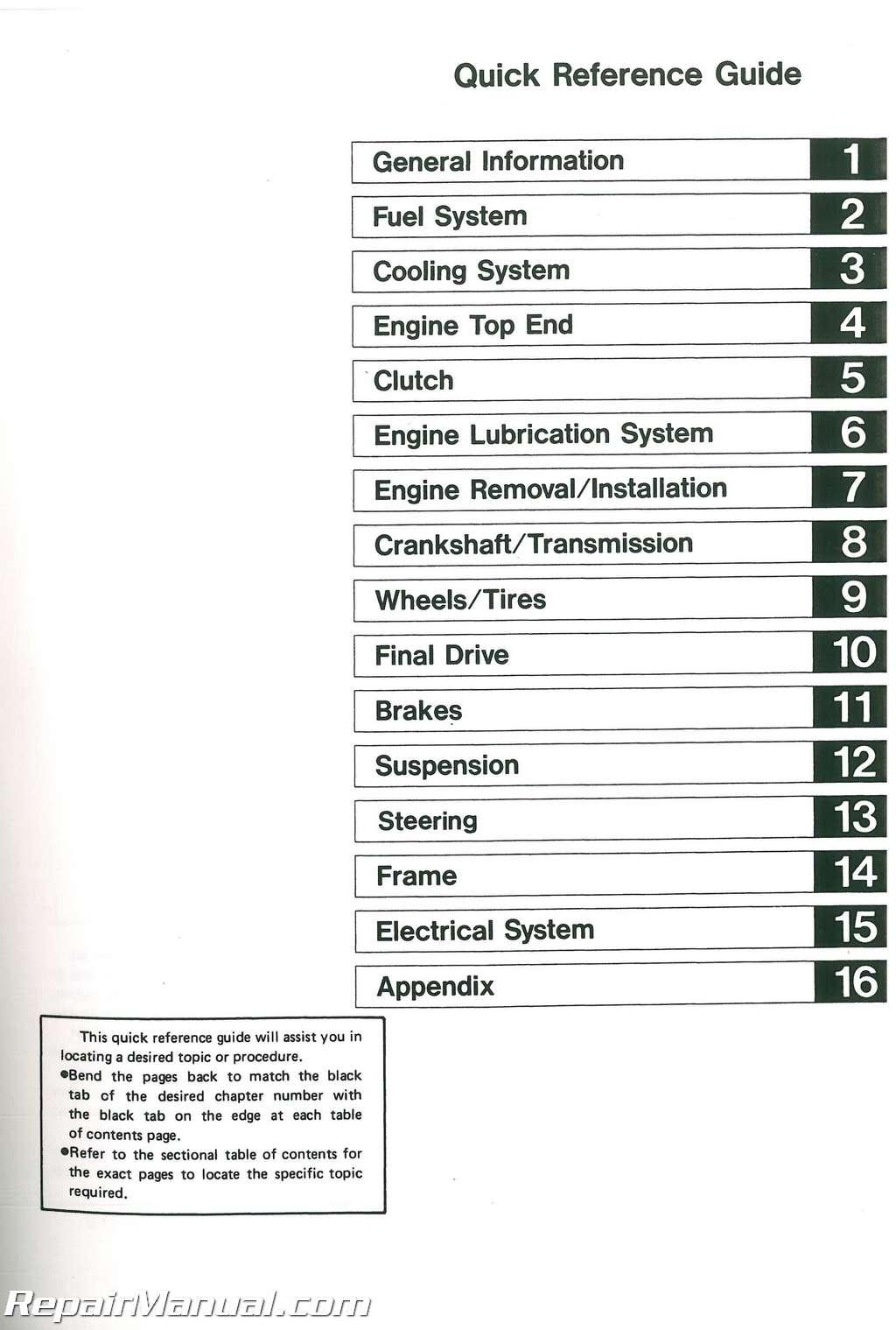 Kawasaki Zx750h Service Manual