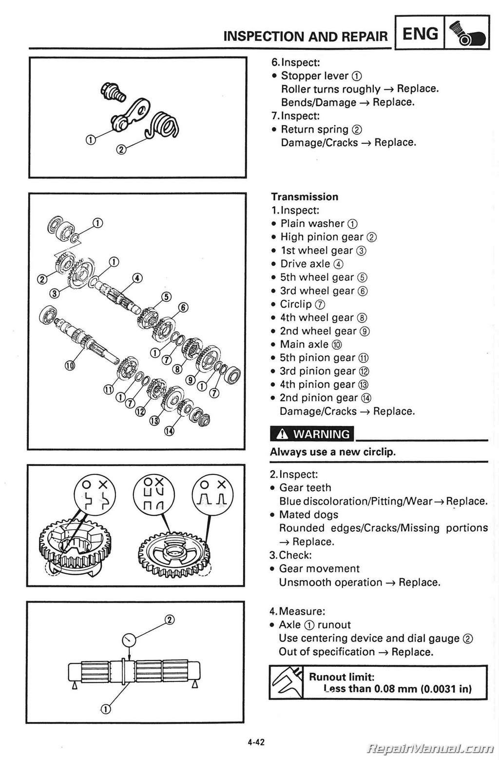 Yamaha 400 1995 Manual Kodiak