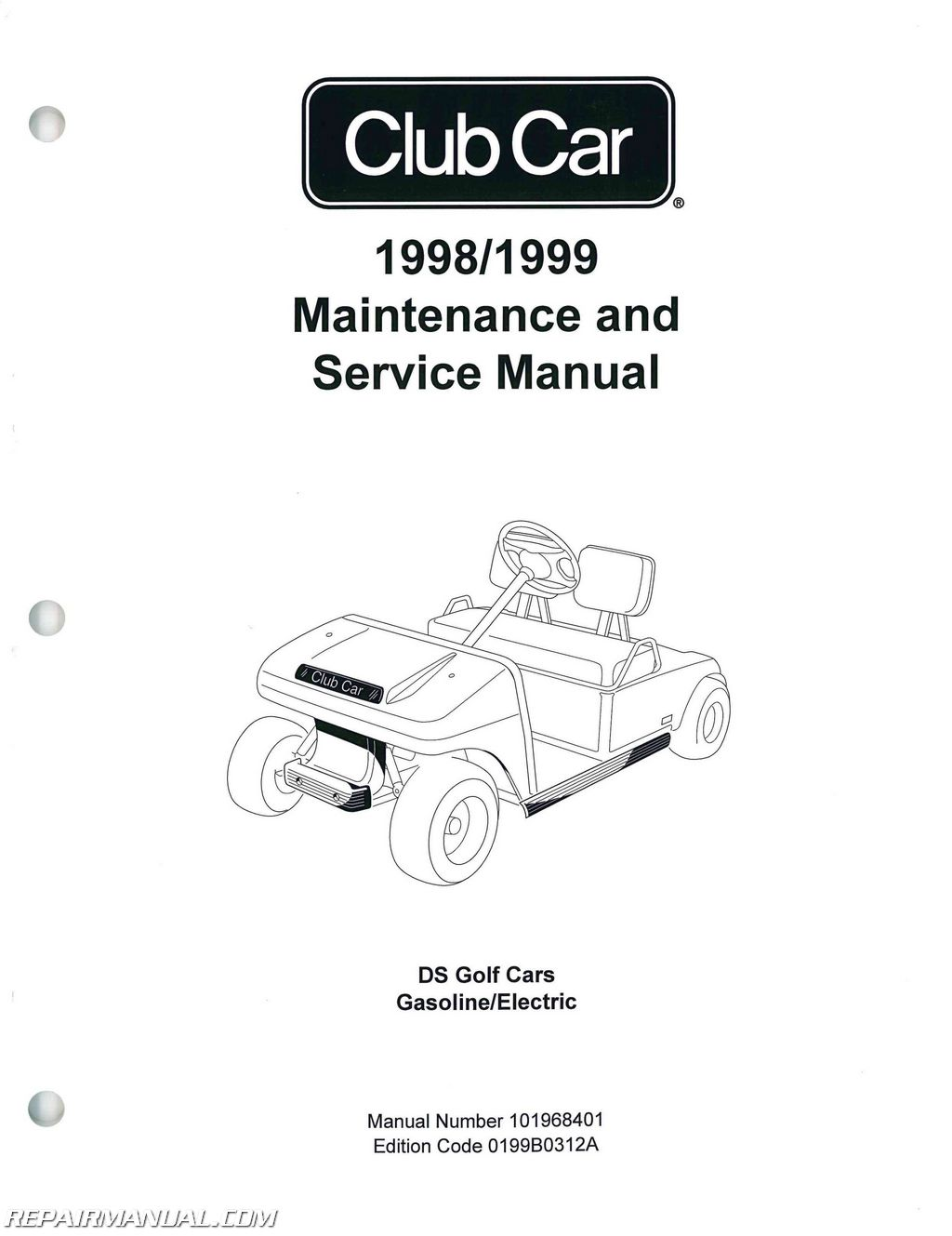 Club Car Ds Golf Car Service Manual