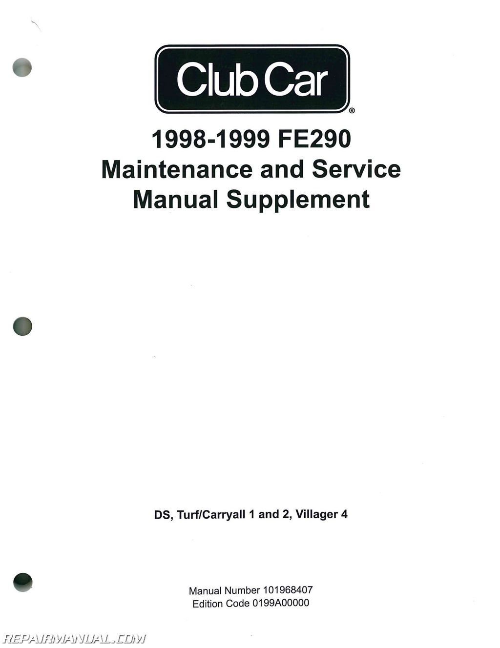 Club Car Fe290 Maintenance And Service Manual