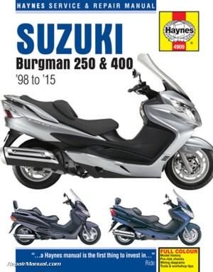 19982015 Suzuki Burgman 250 400 Scooter Repair Manual by Haynes
