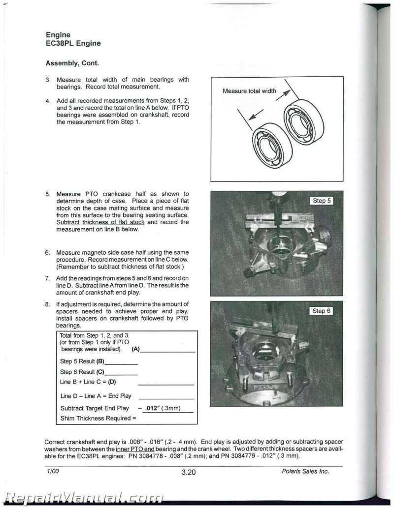 1999 2000 Polaris Scrambler 400 500 Atv Service Repair Manual