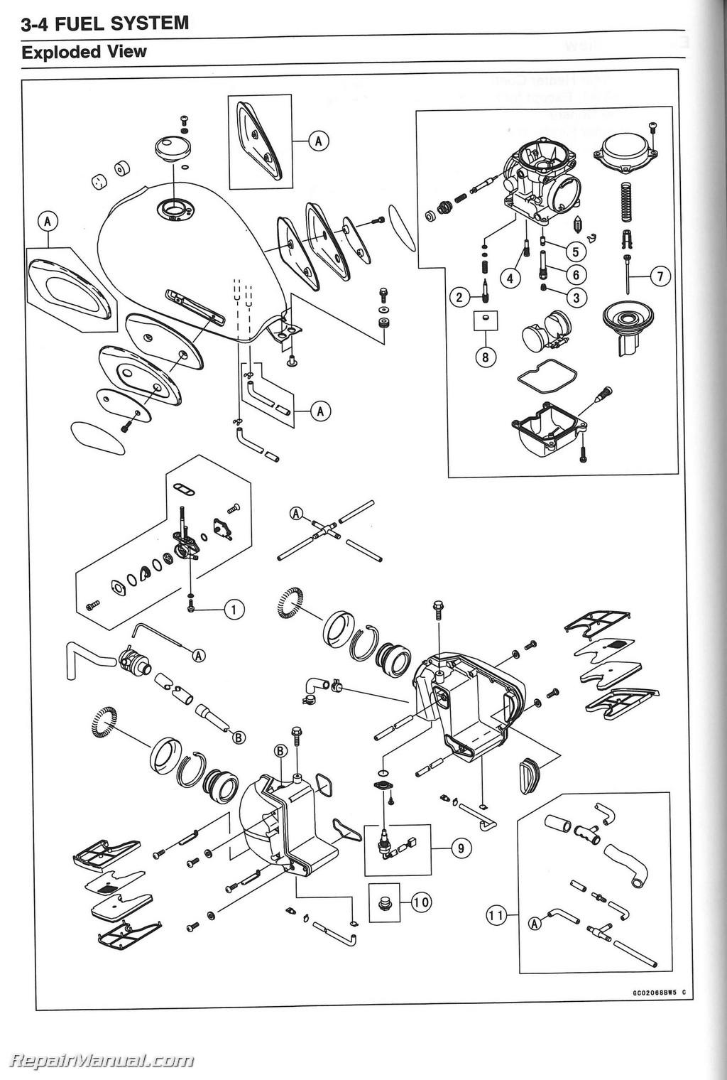 Ej650 W650 Kawasaki Motorcycle Service Manual
