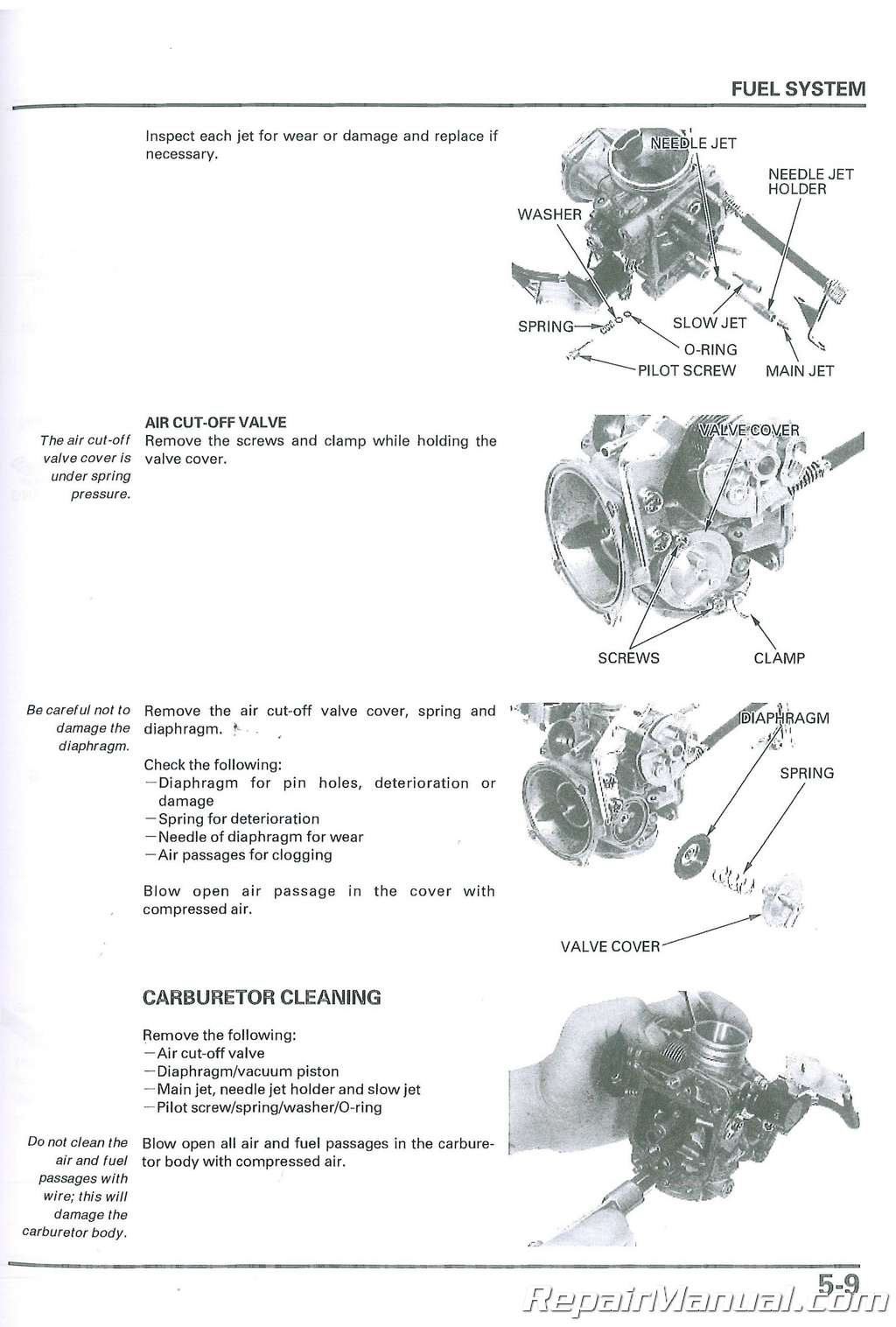 Honda Nss250a Scooter Service Manual