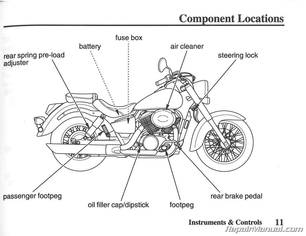 Honda Shadow Vt Haynes Repair Manual For Thru