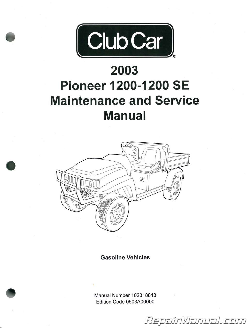 Club Car Pioneer Se Service Maintenance Manual