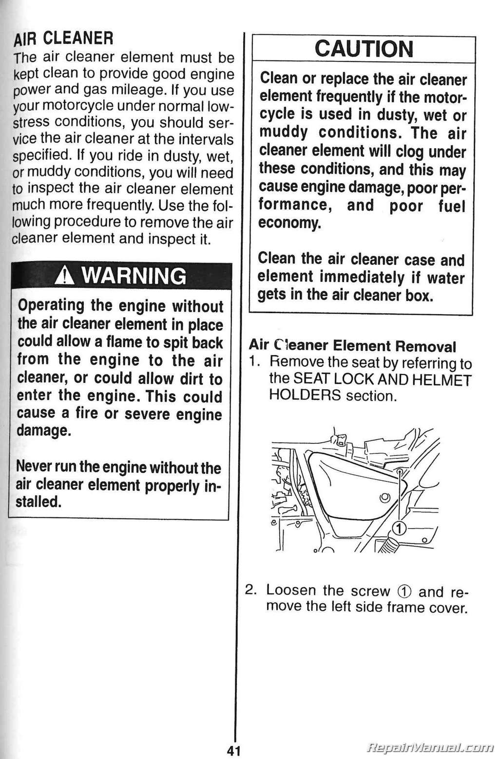 Suzuki Gz250 Marauder Owners Manual