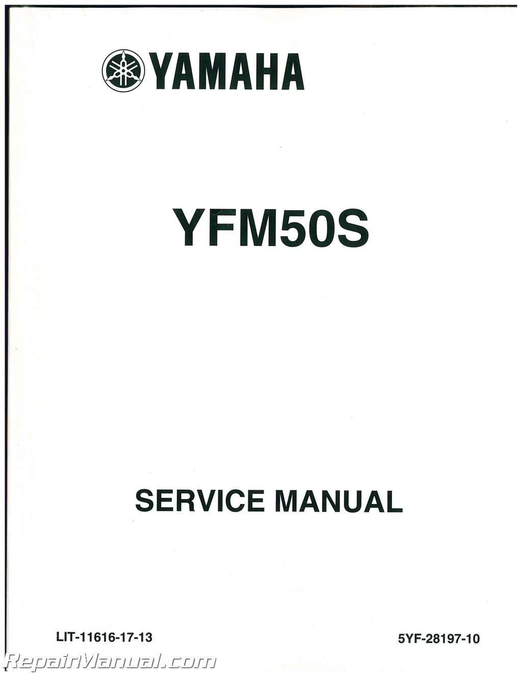 Yamaha Yfm50 Atv Raptor Service Manual