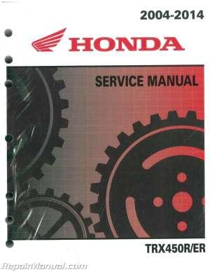20042014 Honda TRX450R ER Sportrax ATV Service Manual : 61HP108 | eBay