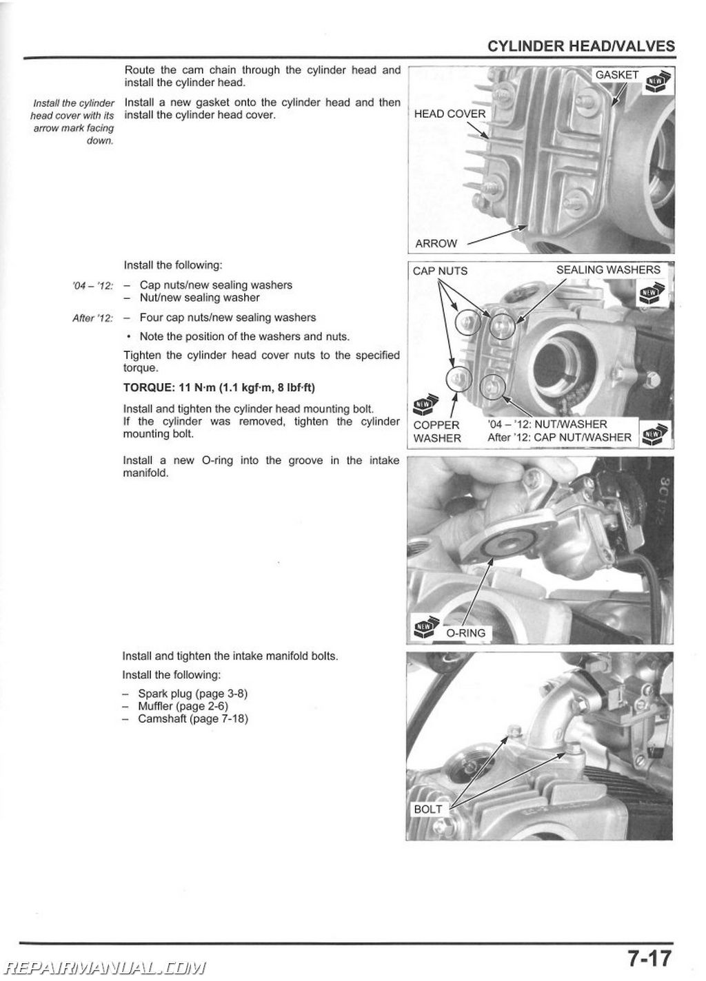 Honda Crf50f Motorcycle Service Manual