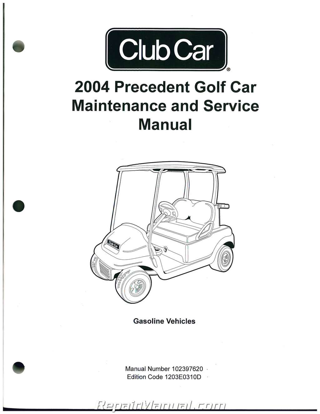 Precedent Club Car Golf Cart Service Manual