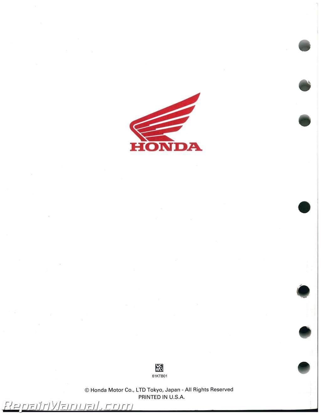 Honda Ps250 Big Ruckus Scooter Service Manual