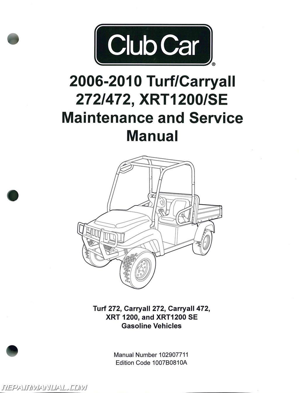 2006 Club Car Wiring Diagram Diagrams Gas Engine Carryall 272 Brake System