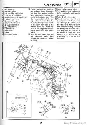 2006 Yamaha YZFR1 Motorcycle Service Manual