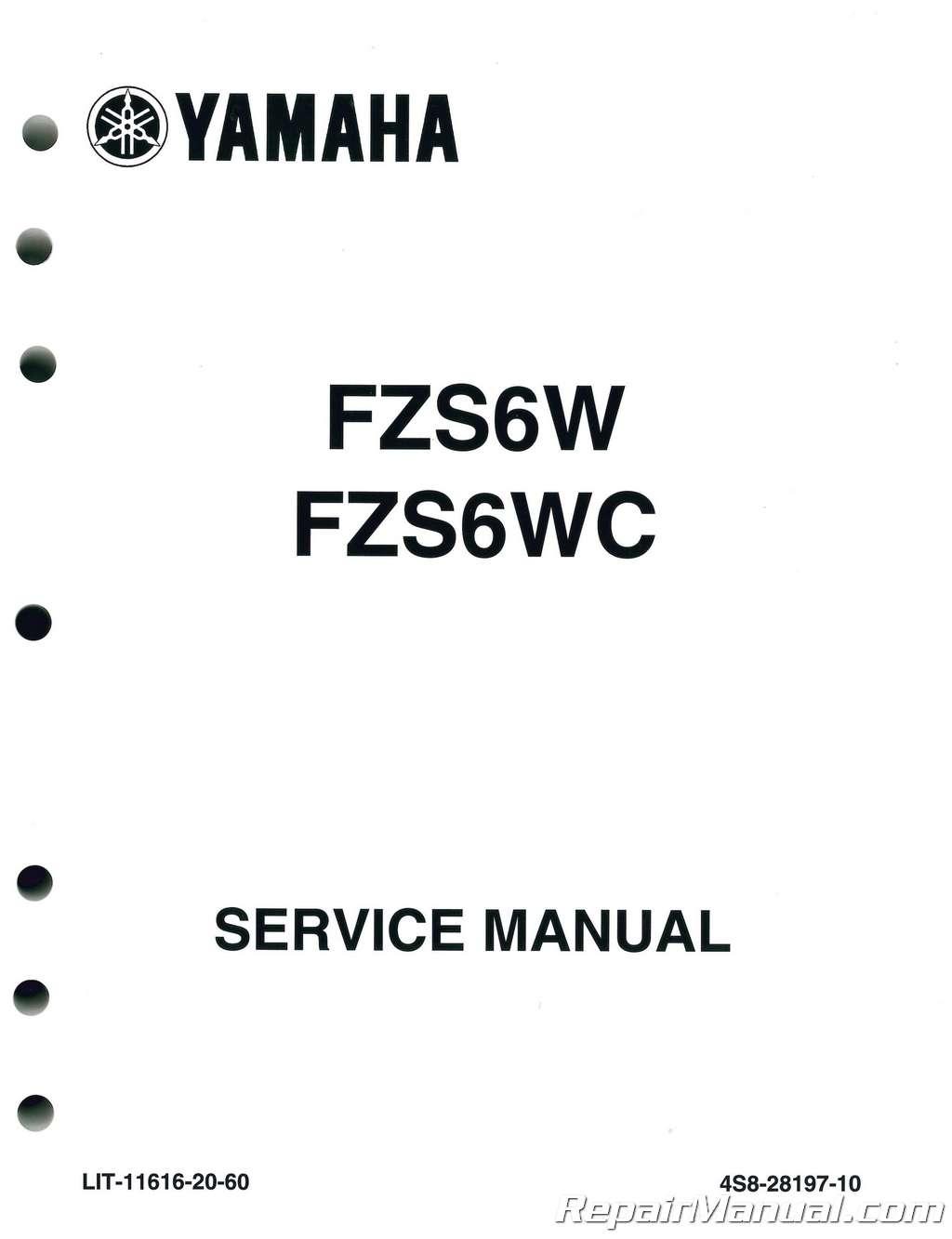 Yamaha Fz 6 Service Manual