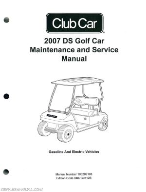 2007 Club Car DS Golf Car Gas And Electric Golf Cart